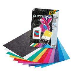 Folia Designpapier, Glitter, 33 cm x 23 cm, 10 Blatt