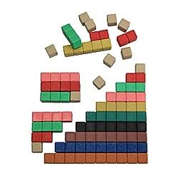 30 farbige Rechenstäbe aus RE-Wood®