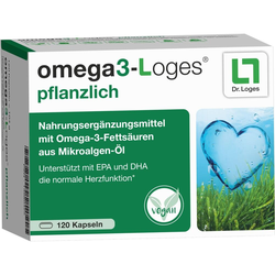 Omega 3-Loges pflanzlich Kapseln