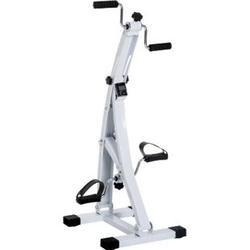 HOMCOM Bewegungstrainer für Senioren weiß 41 x 50 x 96 cm (LxBxH)   Fahrradtrainer Trainingsgerät Fitness-Fahrrad