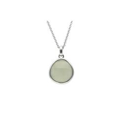 Smart Jewel Kette mit Anhänger mit Halbedelstein, Silber 925 grün