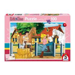 Schmidt Spiele Puzzle Bibi & Tina Auf dem Martinshof, 100 Puzzleteile