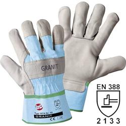 Worky L+D Granit 1574-9 Rindnarbenleder Arbeitshandschuh Größe (Handschuhe): 9, L EN 388 CAT II 1