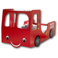 YOURHOME Autobett, für kleine Feuerwehrmänner