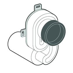 Schell Siphon COMPACT LC für Urinal