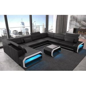 Wohnlandschaft Sofa U Form Couch Schlaffunktion Ecksofa Verona U Led Sofa Dreams