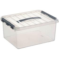 sunware Q-line Aufbewahrungsbox 15,0 l transparent 40,0 x 30,0 x 18,0 cm