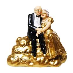 Udo Schmidt Bremen...das Original Spardose Hochzeitspaar auf Wolke 7 Goldhochzeit 15,5 cm Sparschwein