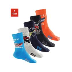 H.I.S Socken (5-Paar) mit Automotiven bunt 27-30