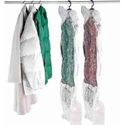 WENKO Kleidersack Vakuum Größe L & XL, (Set, 2-tlg.) farblos Kofferzubehör Reisegepäck Kleidersäcke