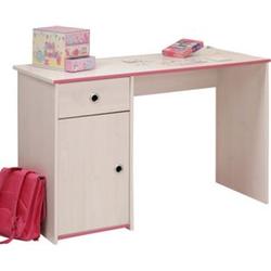Schreibtisch Smoozy 121 x 50 cm Parisot weiß / pink