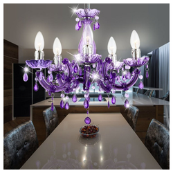 etc-shop Kronleuchter, LED Kronleuchter Hänge Lampen Decken Pendel Leuchten verschiedene Farben lila