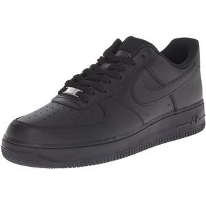 Nike Herren AIR FORCE 1 '07' Sneakers, schwarz/schwarz, 42.5 EU