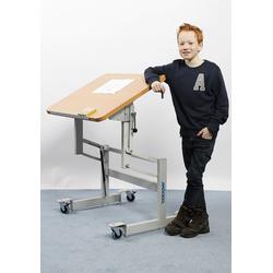 MÖCKEL® ergo S 72 ergonomischer Tisch, Hellbraun, 80 x 60 cm