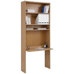 Home affaire Bücherregal Dana, mit Schreibtisch, Höhe 217 cm braun