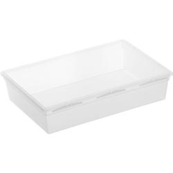 Rotho BASIC Schubladen-Ordnungssystem, transparent, Schubladen-Ordnungssystem aus Kunststoff , Maße. 230 x 150 x 50 mm