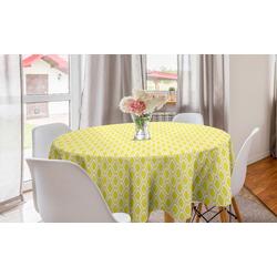Abakuhaus Tischdecke Kreis Tischdecke Abdeckung für Esszimmer Küche Dekoration, Zitronen Abstrakte Zitrone Motive Kunst