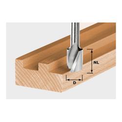 Festool Spiralnutfräser HW Schaft 8 mm HW Spi S8 D10/30