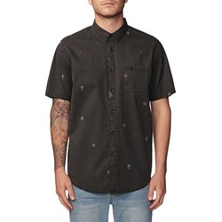 Hemd GLOBE - Neon Dreams Ss Shirt Washed Black (WBLK) Größe: XL