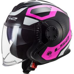 LS2 OF570 Verso Marker Jet helm, zwart-pink, 2XL