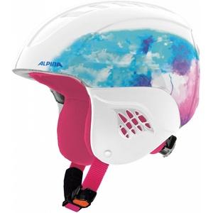 Alpina Sports Unisex Jugend Carat Skihelm, weiß, 48-52