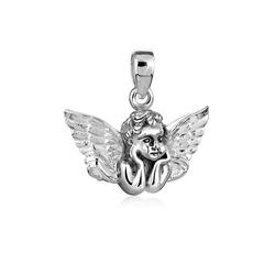 Nenalina Kettenanhänger Schutzengel Glücksbringer für Kette 925 Silber