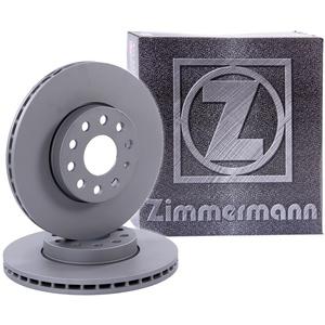 2x ORIGINAL ZIMMERMANN Bremsscheibe Satz Bremsscheiben Belüftet Ø256 Vorne