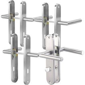 Modernes Edelstahl-Türbeschlag-Set für 3 Zimmertüren & 1 Bad-/WC-Tür