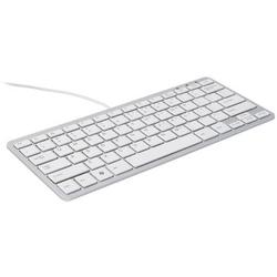 R-GO Tools Compact USB Tastatur Nordisch, QWERTY Weiß Ergonomisch