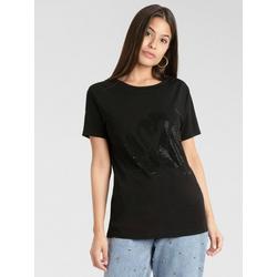 Apart T-Shirt mit Kristallstein-Verzierung 40