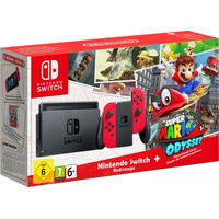 Nintendo Switch rot + Super Mario Odyssey (Bundle)