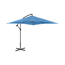 Ampelschirm - blau - rechteckig - 250 x 250 cm - neigbar
