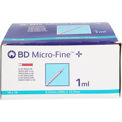 BD MICRO-FINE+ Insulinspr.1 ml U40 12,7 mm 100 ml