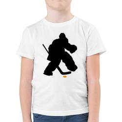 Shirtracer T-Shirt Eishockeytorwart Towart Eishockey - Eishockey - Jungen Kinder T-Shirt - T-Shirts eishockey trikot kinder 164 (14/15 Jahre)