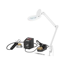 Set 2-in-1 Lötstation mit Lupenleuchte - SMD - digital - 80 W - LED