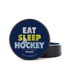 Eishockey Puck EAT SLEEP HOCKEY