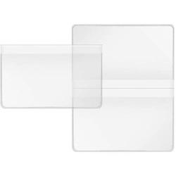 Scheckkarten-Doppelhülle 8,9x11,4cm transparent