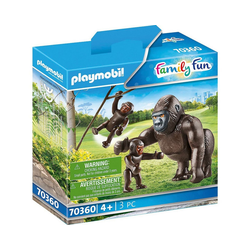 Playmobil® Spielfigur PLAYMOBIL® 70360 Gorilla mit Babys