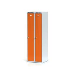 Metallspind, orange zweimantelige tür, zylinderschloss