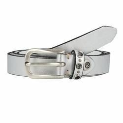 b.belt Jaclyn Gürtel Leder silber metallic 80 cm