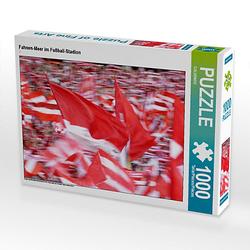 Fahnen-Meer im Fußball-Stadion Lege-Größe 64 x 48 cm Foto-Puzzle Puzzle
