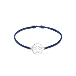 Elli Armband Smiley Face Emoji Herz Liebe 925 Sterling Silber, Smiley