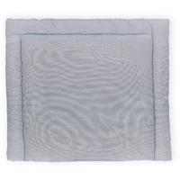 KraftKids Wickelauflage dünne Streifen dunkelblau, extra Weich (500 g/qm), mit antiallergenem Vlies gefüllt 78 cm x 78 cm