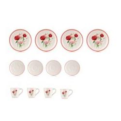 ABELLA Casa Kaffeeservice Blumen-Motiv 12tlg.