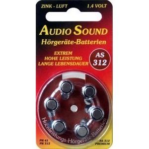AudioSound AS 312 Typ PR44 - 6 Stück Hörgerätebatterien