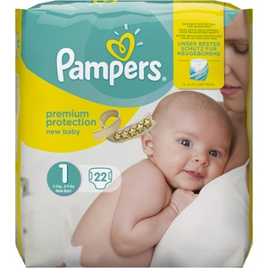 Pampers New Baby Größe 1, 22 Windeln, 2-5 kg