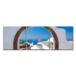 Bilderdepot24 Leinwandbild, Leinwandbild - Window to Paradise - Fenster zum Paradies 90 cm x 30 cm