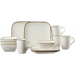 Ritzenhoff & Breker Frühstücks-Geschirrset CASA (12-tlg), Porzellan, Vintage/Used-Look beige