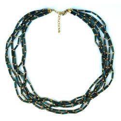 Guru-Shop Perlenkette Modeschmuck Kette, Boho Perlenkette,..