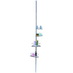 MSV Teleskopregal 4 Körbe, verchromt, 145 - 260 cm